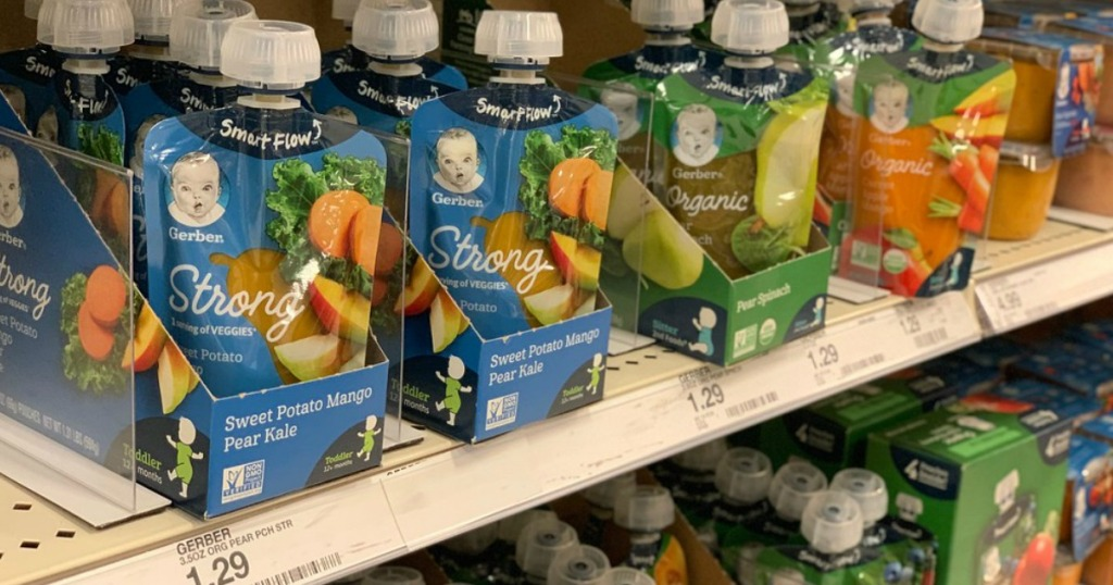 $4 Worth of New Gerber Coupons = Puree 2 Packs Only 82¢ at Walmart