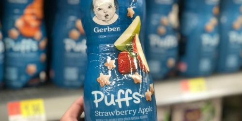 Amazon: Gerber Puffs 6-Pack Only $7.55 Shipped (Just $1.26 Each)