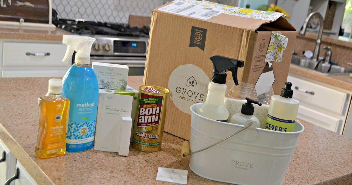 Grove Collaborative cleaning items on a counter