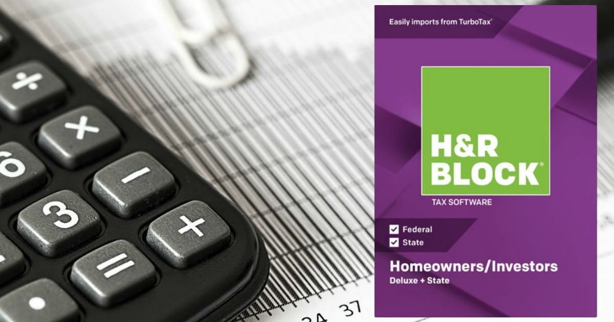H&R Block 2018 Deluxe Federal + State PC Download Only