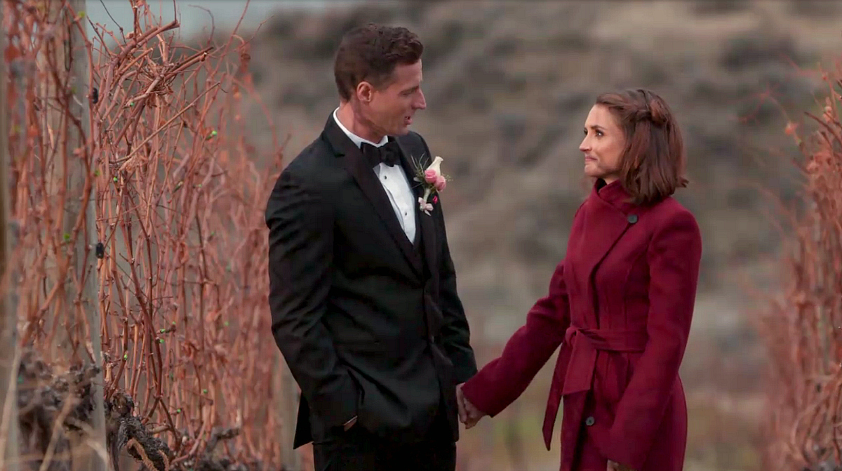 Hallmark Movies Valentine's Day – man holding a woman's hand in a field