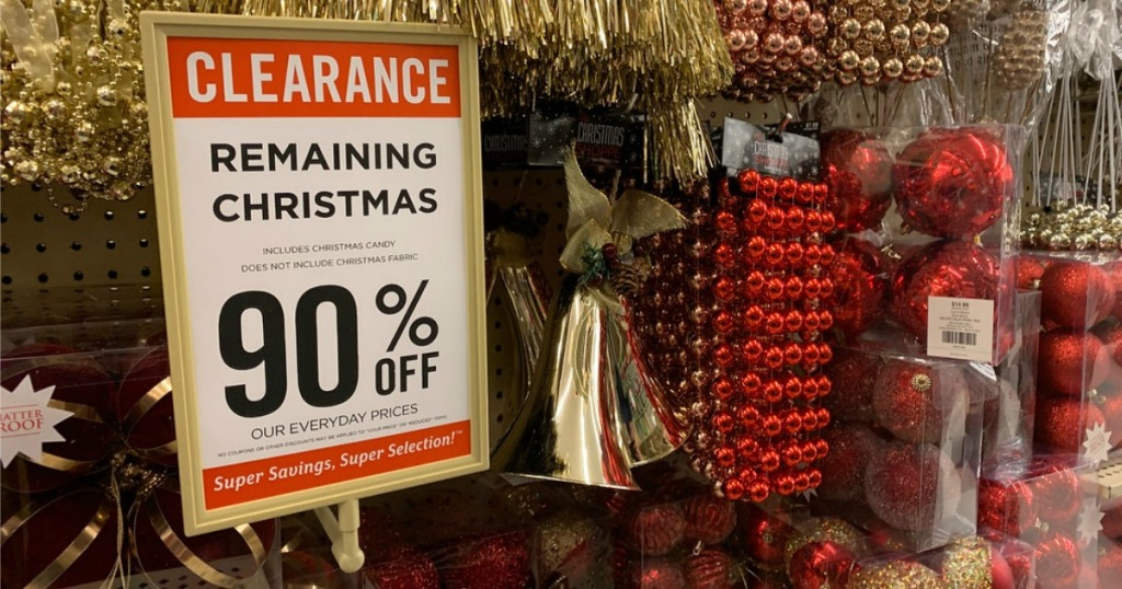 Christmas Clearance 2019 Up to 90% Off Christmas Clearance at Hobby Lobby   Hip2Save