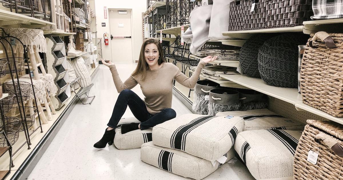 hobby lobby sara with floor pillows global tribal theme