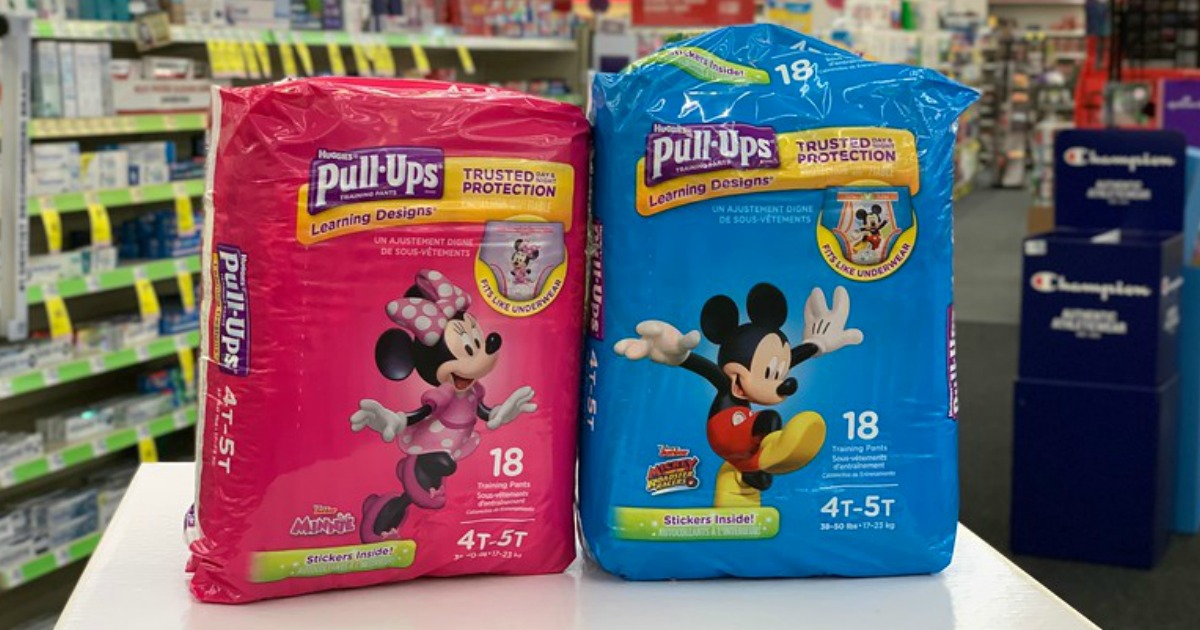 graphic regarding Printable Coupon $3 Off Pull Ups referred to as $4.50 Really worth of Clean Huggies Pull-Ups Discount codes \u003d Jumbo Packs