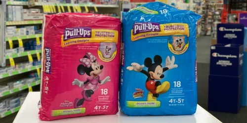 $4.50 Worth of New Huggies & Pull-Ups Coupons = Jumbo Packs as Low as $3 Each After Cash Back at CVS