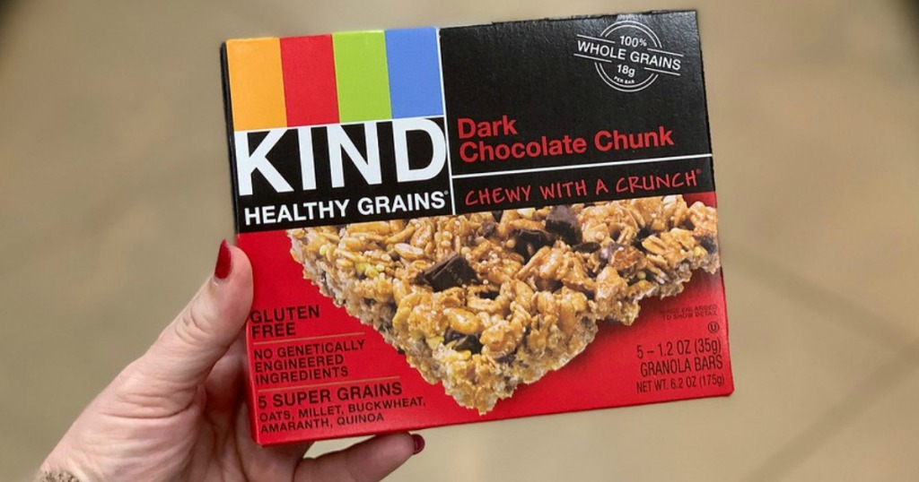 KIND Dark Chocolate Chunk Gluten Free Healthy Grains Bars