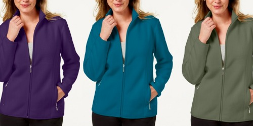 Karen Scott Women's Fleece Jackets Only $13.83 (Regularly $47) at Macy's