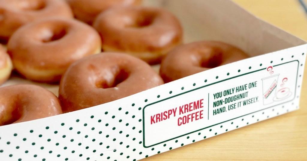 Krispy Kreme doughnuts in box