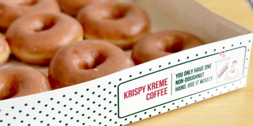 Free Krispy Kreme Dozen Glazed Doughnuts w/ Dozen Purchase (NEW Rewards Members)