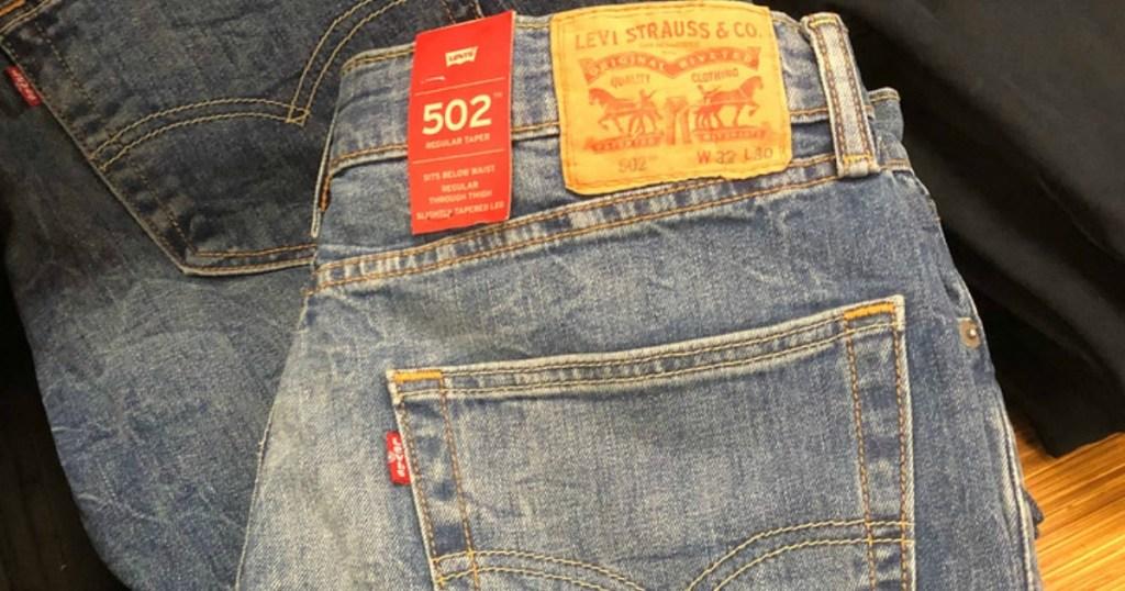Folded Levi Jeans