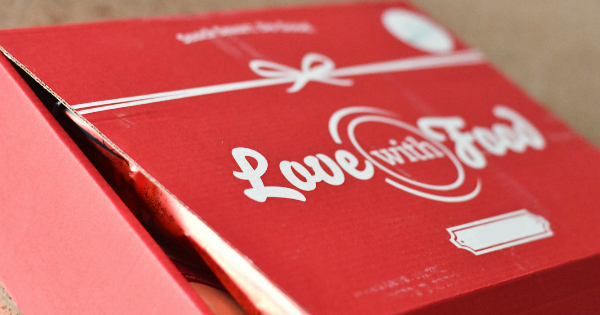 Love with Food Small Tastings Box Deal - the Love with Food shipping box