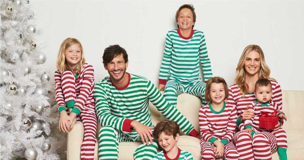 1cc6a32fb Five Pairs of Matching Holiday Family Pajamas Only $29.95 (Regularly $145)