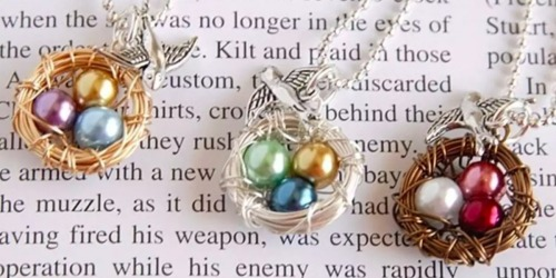 Custom Mama Bird Wire Nest Necklace Only $9.99 Shipped (Regularly $24)