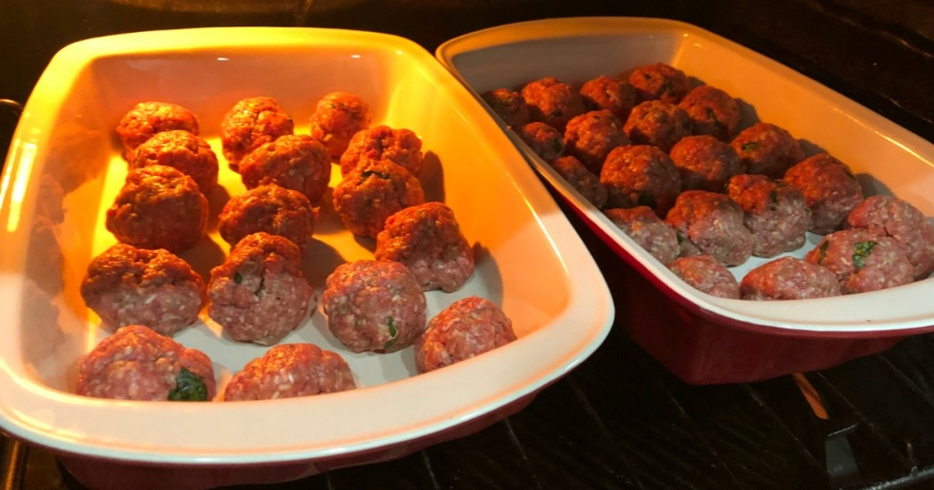 meatballs baking