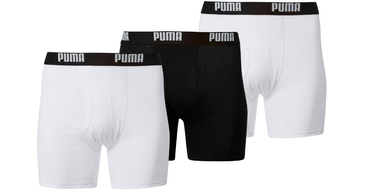 PUMA Mens 3-Pack Volume Boxer Brief