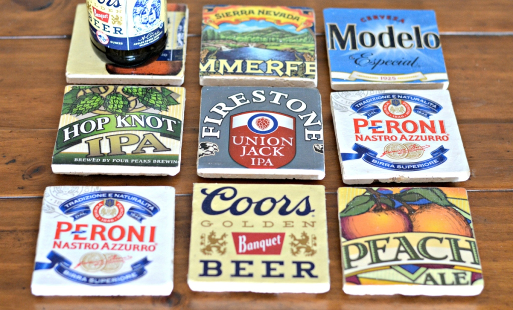 Mod Podge DIY Beer Coasters
