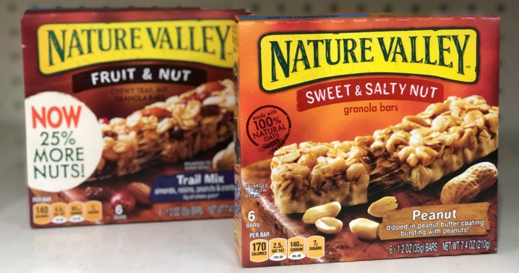 two boxes of Nature Valley bars