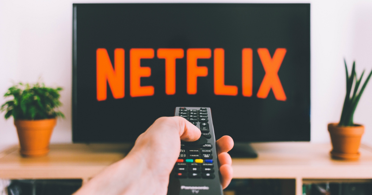 netflix screen on a television