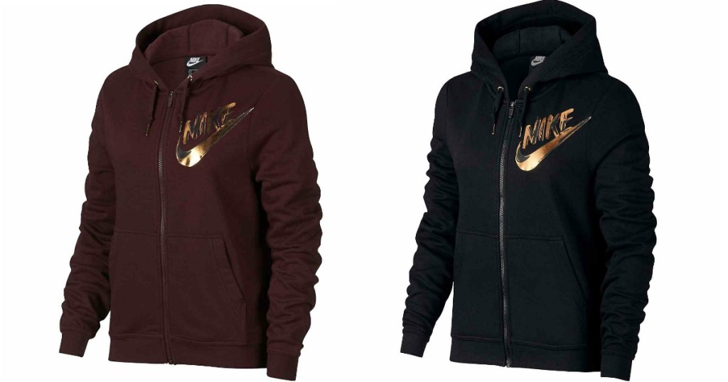 Nike Women s Sportswear Full Zip Metallic Hoodie Only  30 shipped  (regularly  59.95) 9a5a9d9f20a0