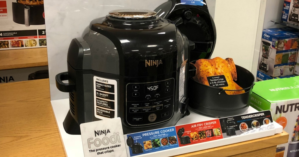 Ninja foodi on display at Kohl's