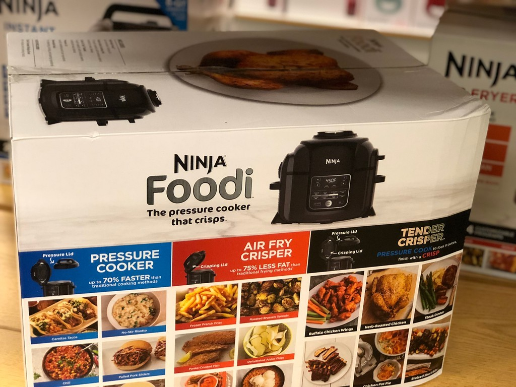 Ninja foodi box closeup at Kohl's