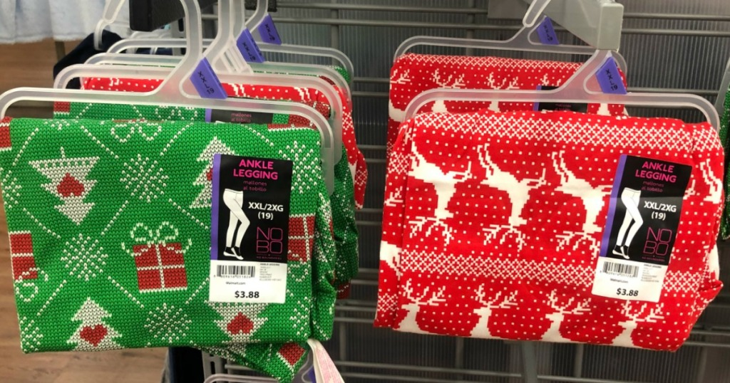 e70872b827afc6 If you are heading in to Walmart in the near future, keep an eye out for  these fun No Boundaries Women's Holiday Leggings possibly on clearance for  just ...