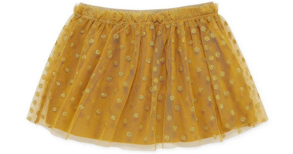 6ef2271eb94b8 Okie Dokie Toddler Girls Midi Tutu Skirt – Gold w/ Polka Dots Just $5.10  (regularly $17) *Sizes 2T through 5T available.