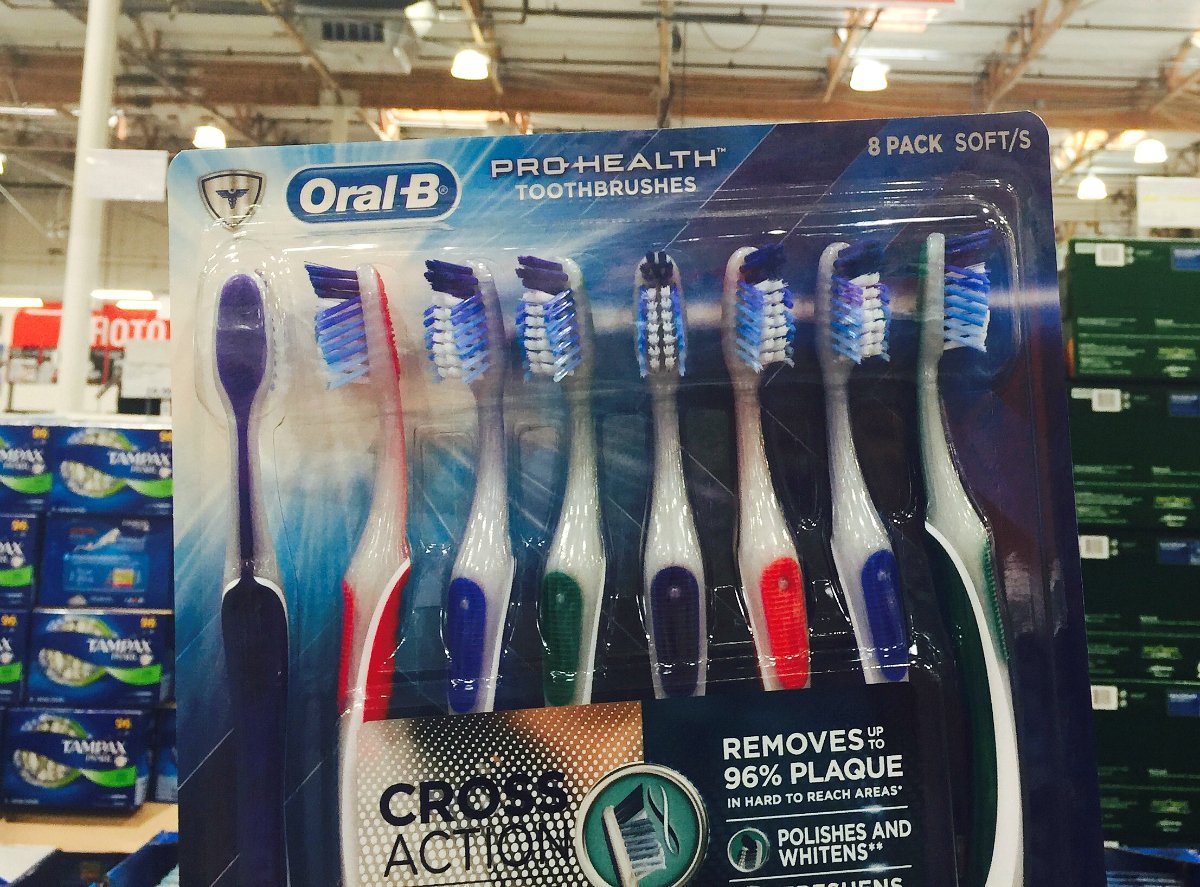 Oral-B toothbrushes at Costco