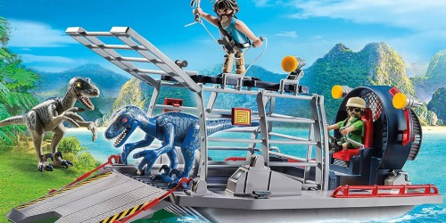PLAYMOBIL Airboat with Raptor Set Only $21.56 Shipped (Regularly $35)