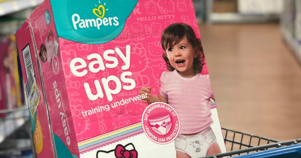 pampers easy ups training underwear in cart in store