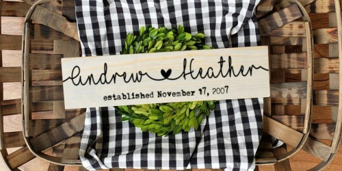 Personalized Couple Name Sign Only $15.98 Shipped