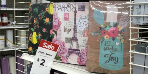 Photo Memory Boxes as Low as $1.80 at Michaels