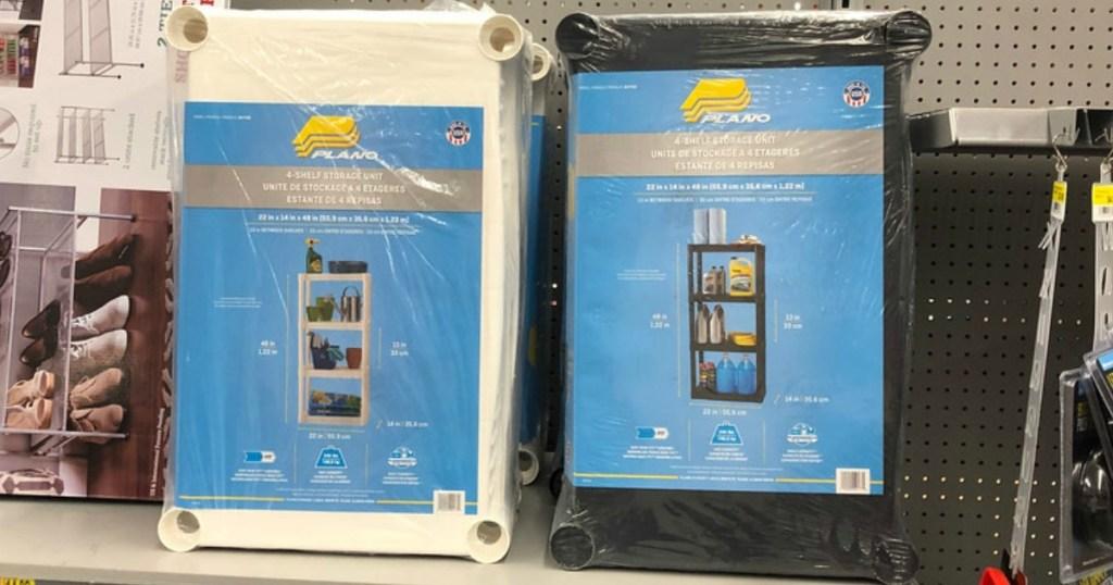 Plano Shelves on store shelf