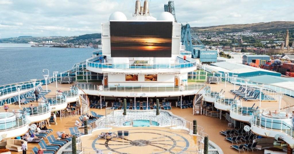 Princess Cruise ship deck
