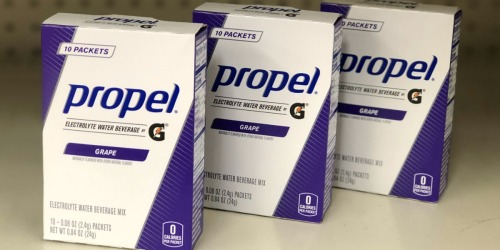 Amazon: Propel Powder Packets 120-Count Just $18 Shipped (Only 15¢ Per Drink)