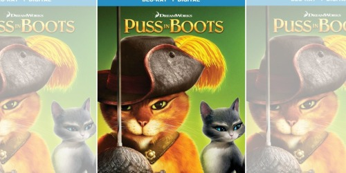 Puss In Boots Blu-ray + Digital Only $5.99 at Best Buy