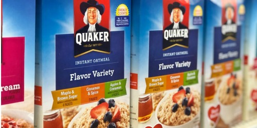 Amazon: Quaker Instant Oatmeal 48-Count Box Only $8.15 Shipped + More