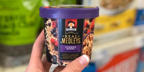 Amazon: Quaker Real Medleys Instant Oatmeal+ 12-Count Variety Pack Only $9.59 Shipped