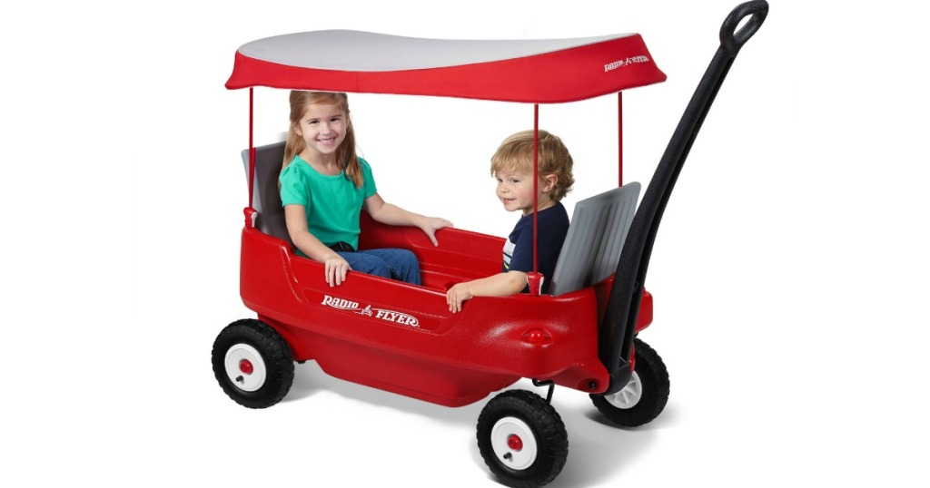 Radio Flyer Fold Wagon W Canopy Seat Belts Only 79