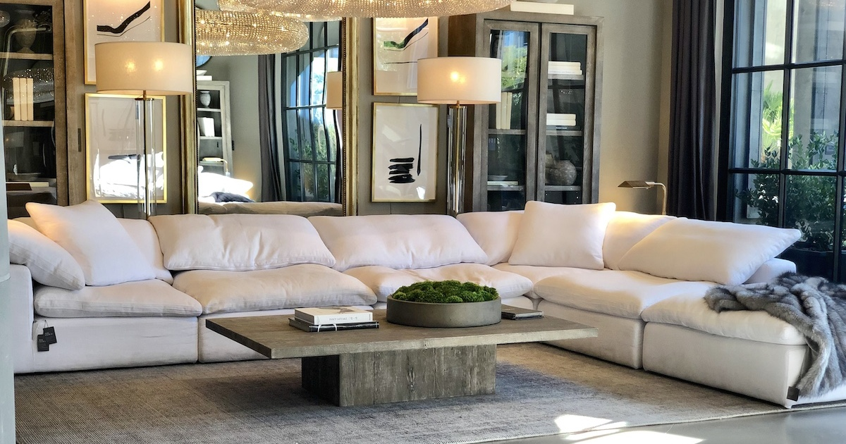 Restoration Hardware copycat items  cloud sectional couch