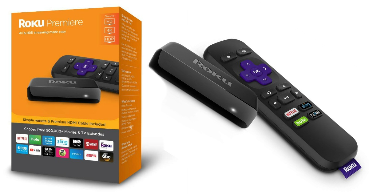 roku premiere stick and box stock images