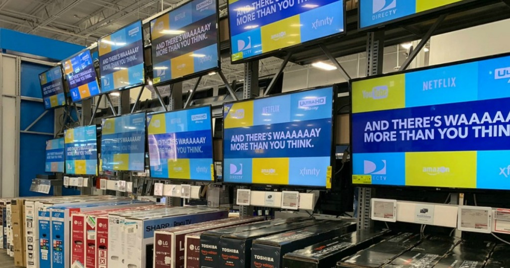 roku televisons displayed at a store
