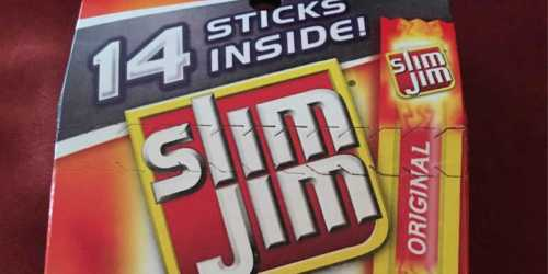 Slim Jim Meat Sticks 14-Count Pack Only $2.77 Shipped (Just 20¢ Per Stick) – Ships w/ $25 Amazon Order