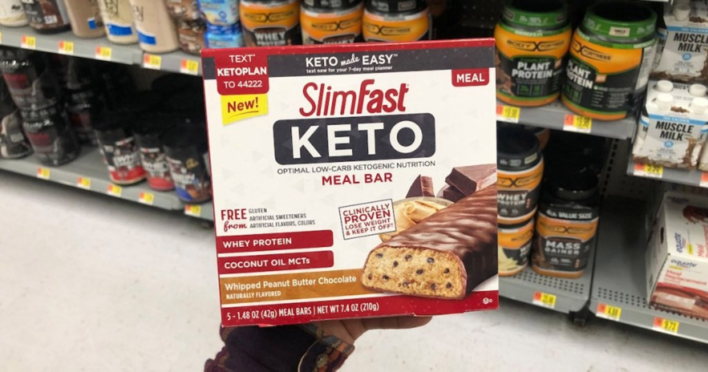 New SlimFast Keto Coupon = 30% Off Meal Bars or Fat Bombs Box After