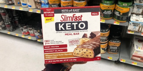 New SlimFast Keto Coupon = 30% Off Meal Bars or Fat Bombs Box After Cash Back at Walmart + More