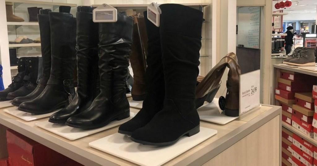 black Style & Co Kelimae Scrunch Boots in macy's by mirror