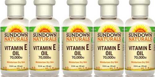 Sundown Naturals Vitamin E Oil 3-Pack Only $5.47 – Ships w/ $25 Amazon Order