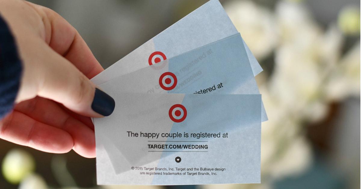 Target Wedding Registry vouchers