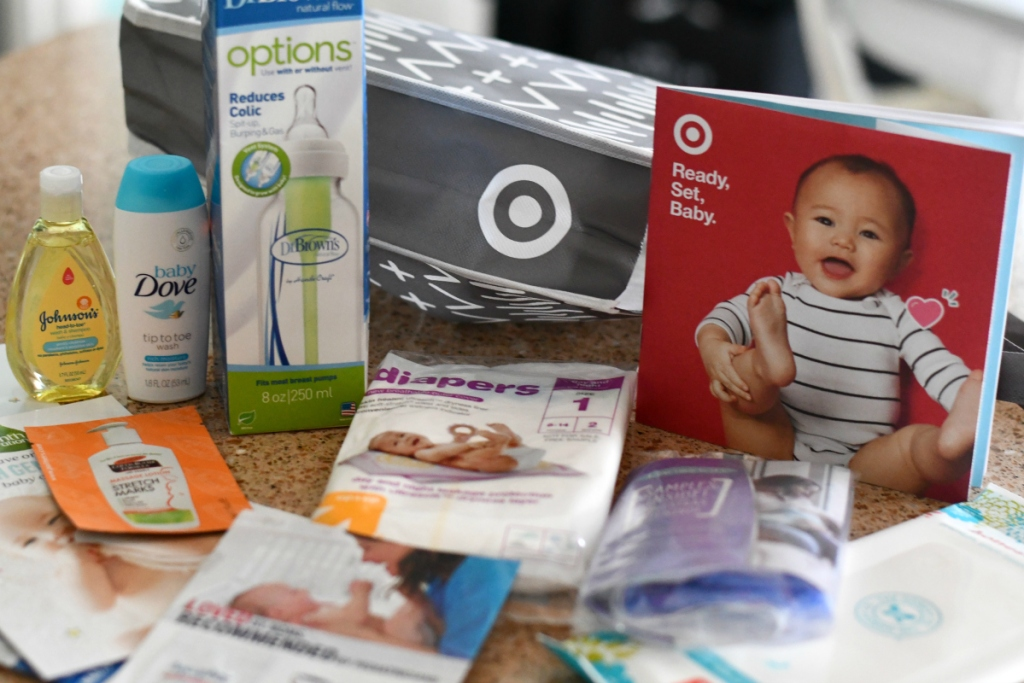 Target baby registry goodies in bag