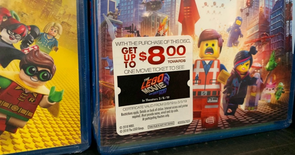 Best Buy Get 8 In Movie Money To See The Lego Movie 2 W Blu Ray Purchase Hip2save